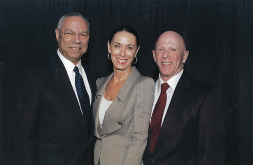 This was one of the proudest moments of our lives when Colin Powell presented us with the  National Association for Fundraising Professionals (AFP) Excellence in Fundraising Award in 2006  for our work on behalf of the Honor Your Father Campaign for Prostate Cancer Research.