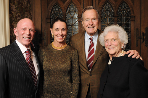 Celebration of Reading reception 2010. What a wonderful couple.  kind, compassionate and loving. The Bushes are OK too!