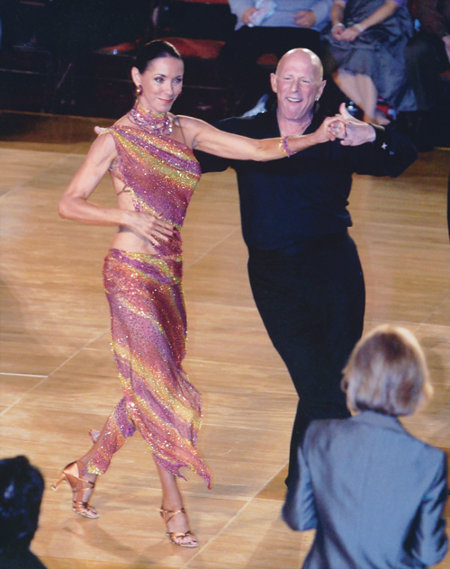 This is one of my all-time favorite photos, taken at the  Ohio Star Ball as we were dancing the samba.